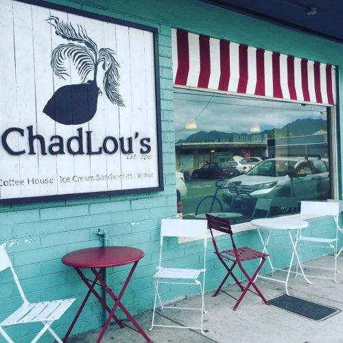 ハワイにあるカフェChadLou'sの外観