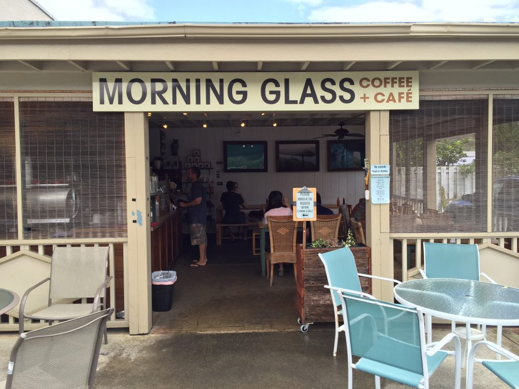 ハワイにあるMorning Glass Coffee + Cafeの外観