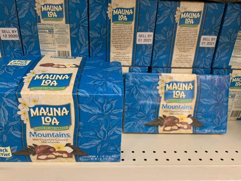 ロングスドラッグで買えるマウナ・ロアのマカダミアナッツチョコレート