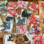ハワイの布マスクたち。
